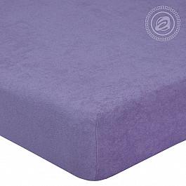 Простыни Арт-постель Простынь махровая на резинке Сирень, 140*200 см цена