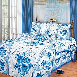Постельное белье Арт-постель КПБ из бязи арт. 100 Гжель (1.5 спальный) арт постель одиссей