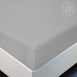 Простыни Арт-постель Простынь трикотажная на резинке Серый, 180*200 цена