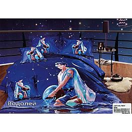 Постельное белье Tango КПБ Сатин Гороскоп дизайн Водолей (Евро)