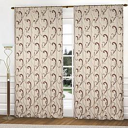 Шторы для комнаты Blackout Комплект штор К331-3, крем, коричневый, 250*250 см 250 cnc