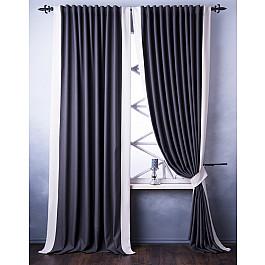 Шторы для комнаты Белошвейка Комплект штор Нова, серый, 240*250 см