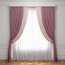 цены Шторы для комнаты Белошвейка Комплект штор Латур, розовый, светло-розовый, 170*270 см