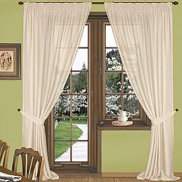 Шторы для комнаты Blackout Комплект штор К332-4, кремовый, 250*250 см 250 cnc