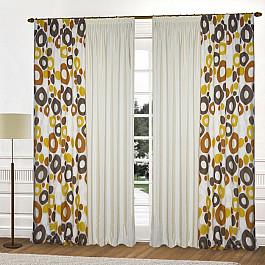 купить Шторы для комнаты Blackout Комплект штор K315-2, оттенки коричневого, 240*250 см по цене 6500 рублей