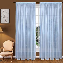 Тюль Blackout Тюль вуаль T102-8, голубой, 150*290 см
