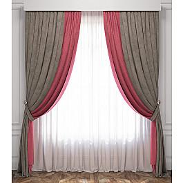 Шторы для комнаты Белошвейка Комплект штор Латур, розово-серый, 170*270 см жен комплект арт 16 0262 розово серый р 50