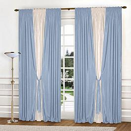 Шторы для комнаты Blackout Комплект штор К304-7, голубой, молочный, 240*260 см комплект штор witerra тергалет 10709 голубой 140 260 см
