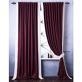 Шторы для комнаты Белошвейка Комплект штор Нова, бордовый, 170*270 см