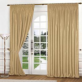 Шторы для комнаты Blackout Комплект штор К301-3, золотистый, 250*250 см 250 cnc