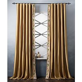 Шторы для комнаты Белошвейка Комплект штор с вышивкой Шарлиз, золотой, 200*280 см ткань арта 1 п м 280 см цвет золотой
