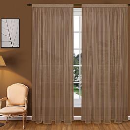 Тюль Blackout Тюль вуаль T102-10, коричневый, 200*290 см недорго, оригинальная цена