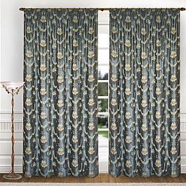 Шторы для комнаты Blackout Комплект штор K325-6, голубой, 250*260 см комплект штор witerra тергалет 10709 голубой 140 260 см