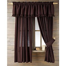 Комплект штор Лайнен, коричневый, 130*170 см Белошвейка