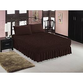 Чехлы для мебели Caprise Чехол на кровать универсальный Caprise с наволочками, темный шоколад