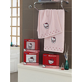 Комплект полотенец Hello Kitty (COTTON) в коробке (50*90; 70*140), розовый