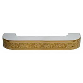 Карнизы Карниз потолочный пластиковый поворотный Овация 3D, 3 ряда, бук, 200 см
