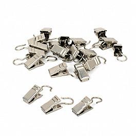 Зажимы Delfa Комплект зажимов для металлических колец, хром матовый (фирменная упаковка)