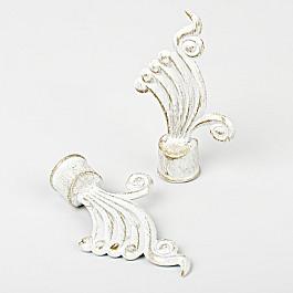 Наконечники Delfa Комплект наконечников для карниза Верди, белое золото, ø19 мм верди реквием