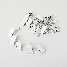 Зажимы Delfa Комплект зажимов для металлических колец, белый пиано