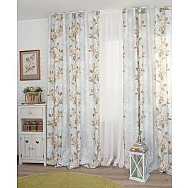 Шторы для комнаты Дельфа Шторы Flowers-20, бежевые цветы (20), 180*250 см цена