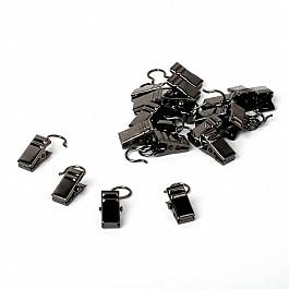 Зажимы Delfa Комплект зажимов для металлических колец, черный никель (фирменная упаковка)