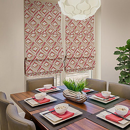 цена на Римские шторы ШтораНаДом Римская штора Akane Rombo Culla, малиновый (rojo) 36, ширина 68 см