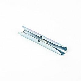 Соединители Delfa Соединитель трубы для металлического карниза, цинк, диаметр 19 мм (фирменная упаковка)