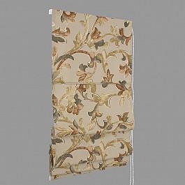 Римские шторы ШтораНаДом Римская штора Botanico Tallo, marron (86), ширина 57 см цена