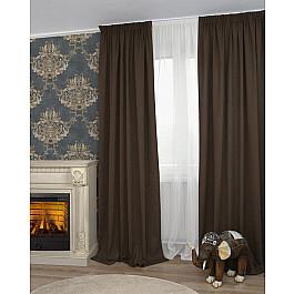 Шторы для комнаты Дельфа Комплект штор Icaro-86, коричневый (marron), 160*270 см недорго, оригинальная цена