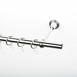 Карнизы Карниз металлический стыкованный, 1-рядный, хром, гладкая труба, 320 см, ø 19 мм кабель межблочный аналоговый rca analysis plus copper oval in 1 m