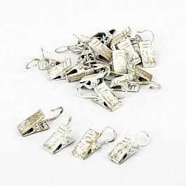 Зажимы Delfa Комплект зажимов для металлических колец, белое золото (фирменная упаковка)