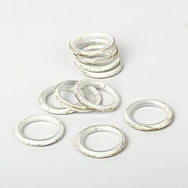 Кольца Delfa Комплект колец для металлического карниза, белое золото, №100, диаметр 25 мм