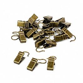 Зажимы Delfa Комплект зажимов для металлических колец, золото антик (фирменная упаковка)