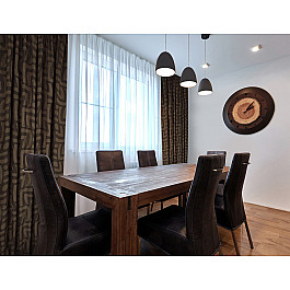 Шторы для комнаты Дельфа Комплект штор Insa-86, коричневый (rata), 160*270 см