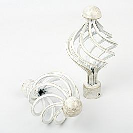 Наконечники Delfa Наконечник для карниза Вито, белое золото, ø25 мм ролики сдвижной двери мерседес вито 638