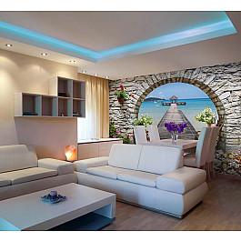 Фотопанно Divino DelDecor Фотофреска на стену живопись Арка, 390*270 см арка металлическая 90 см