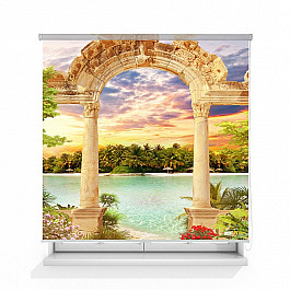 Шторы рулонные ролло Divino DelDecor Рулонная штора ролло термоблэкаут Античная арка, 140 см арка металлическая 90 см