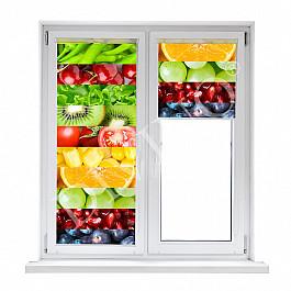 Шторы рулонные Divino DelDecor Рулонная штора лен Фрукты и овощи, 57 см смирнова екатерина васильевна овощи фрукты