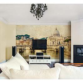 """Фотопанно Divino DelDecor Фотофреска на стену штукатурка """"Мост Сан-Анджело"""", 390*270 см"""
