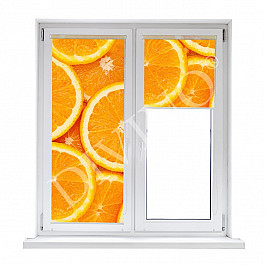 Шторы рулонные Divino DelDecor Рулонная штора лен Апельсиновый фон, 43 см шторы рулонные divino deldecor рулонная штора лен берлин 43 см