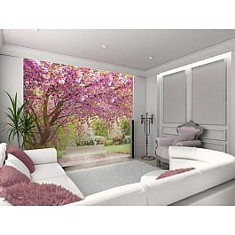 "Фотопанно Divino DelDecor Фотофреска на стену штукатурка ""Вишня в саду"", 260*270 см"