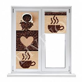 Шторы рулонные Divino DelDecor Рулонная штора лен Кофейные зерна, 43 см шторы рулонные divino deldecor рулонная штора лен берлин 43 см