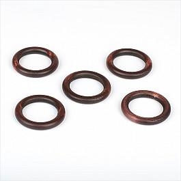 Кольца ШтораНаДом Комплект колец из дерева для металлического карниза, орех, диаметр 28 мм