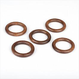 Кольца ШтораНаДом Комплект колец из дерева для металлического карниза, дуб рустикал, диаметр 28 мм