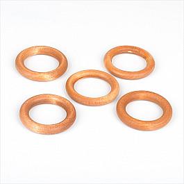 Кольца ШтораНаДом Комплект колец из дерева для металлического карниза, вишня, диаметр 28 мм
