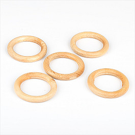 Кольца ШтораНаДом Комплект колец из дерева для металлического карниза, светлый дуб, диаметр 28 мм