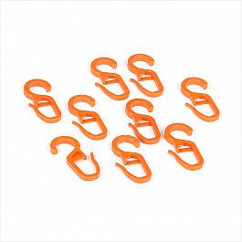 цена на Крючки ШтораНаДом Комплект крючков для металлического карниза, вишня, диаметр 28 мм
