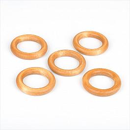 Кольца ШтораНаДом Комплект колец из дерева для металлического карниза, натуральное дерево, диаметр 28 мм