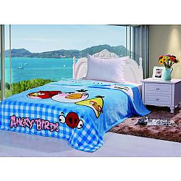 Плед Tango Плед детский Angry Birds №02, голубой, 150*200 см